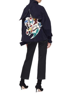 Angel Chen Graphic appliqué hooded windbreaker jacket