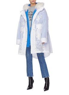 Angel Chen Two-in-one coat and down puffer jacket