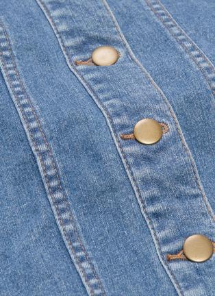 - 72723 - Button front panelled denim dress
