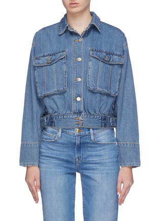 Main View - Click To Enlarge - 72723 - Patch pocket denim jacket