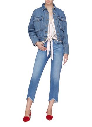 Figure View - Click To Enlarge - 72723 - Patch pocket denim jacket