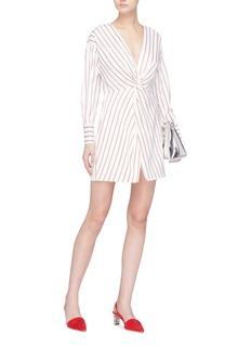 Nicholas Twist front stripe dress