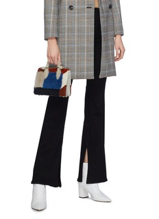 Strathberry 'The Strathberry Nano' colourblock shearling tote