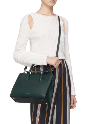 Front View - Click To Enlarge - STRATHBERRY - 'The Strathberry Midi' leather tote