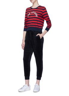 The Upside 'Hoya' velvet jogging pants
