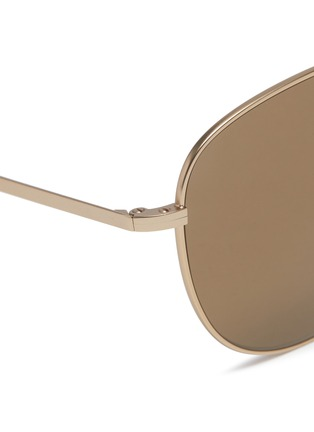 Detail View - Click To Enlarge - Tomas Maier - Tortoiseshell brow bar metal aviator sunglasses