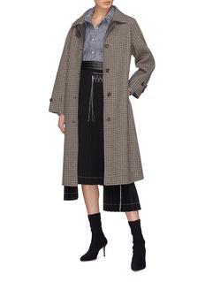 Dawei Wool-cotton seersucker shirt