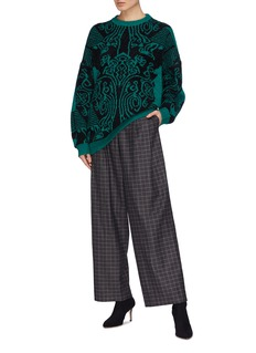 Dawei Graphic intarsia sweater
