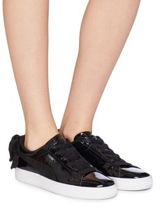Puma 'Basket Bow' patent sneakers