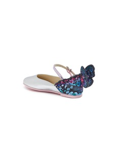 Sophia Webster 'Chiara Mini' butterfly appliqué leather toddler flats