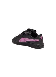 Puma 'Basket Heart Bling' leather kids sneakers