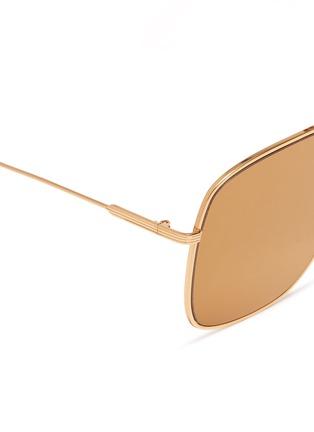 Detail View - Click To Enlarge - VICTORIA BECKHAM - 'Loop Navigator' metal aviator sunglasses