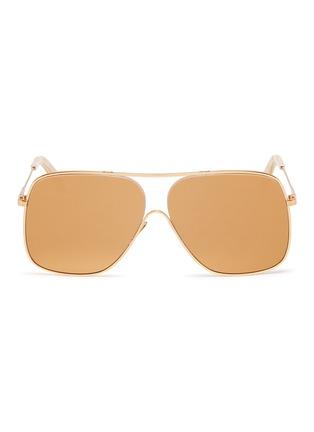 Main View - Click To Enlarge - VICTORIA BECKHAM - 'Loop Navigator' metal aviator sunglasses