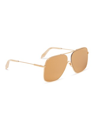 Figure View - Click To Enlarge - VICTORIA BECKHAM - 'Loop Navigator' metal aviator sunglasses