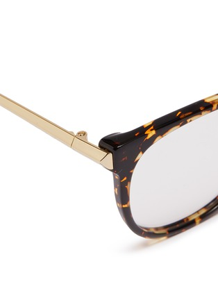 Detail View - Click To Enlarge - VICTORIA BECKHAM - Metal temple acetate round optical glasses