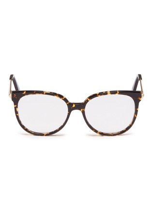 Main View - Click To Enlarge - VICTORIA BECKHAM - Metal temple acetate round optical glasses