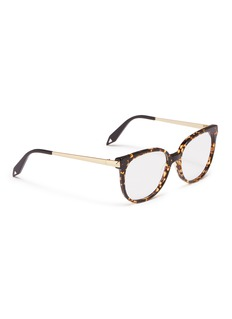 Victoria Beckham Metal temple acetate round optical glasses
