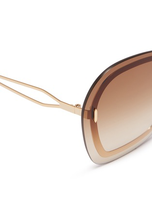 Detail View - Click To Enlarge - VICTORIA BECKHAM - 'Floating Butterfly' oversized angular metal sunglasses