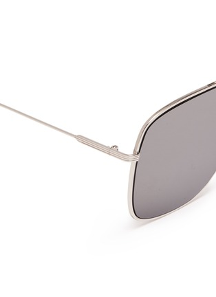 Detail View - Click To Enlarge - VICTORIA BECKHAM - 'Loop Navigator' metal square aviator sunglasses