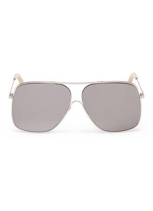 Main View - Click To Enlarge - VICTORIA BECKHAM - 'Loop Navigator' metal square aviator sunglasses
