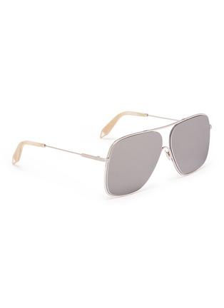 Figure View - Click To Enlarge - VICTORIA BECKHAM - 'Loop Navigator' metal square aviator sunglasses
