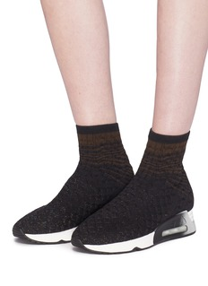 Ash 'Lanet' braided knit sock sneakers