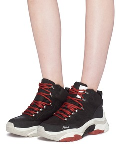 Ash 'Alfa' chunky outsole leather sneakers