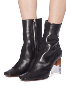 NEOUS 'Hea' cuboid heel leather ankle boots