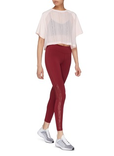 Particle Fever Lace outseam mesh panel performance leggings
