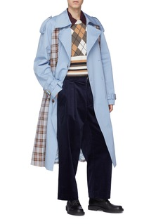 Junwei Lin Diamond check wool knit vest