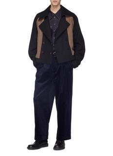 Junwei Lin Fringe flap pocket Western shirt