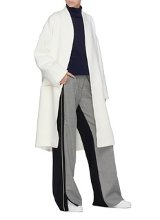 FFIXXED STUDIOS Collarless patchwork coat
