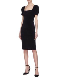 Rebecca Vallance 'Ivy' puff sleeve cutout back dress