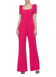 Rebecca Vallance 'Poppy' bow back crepe wide leg jumpsuit