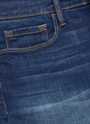 - FRAME DENIM - 'Le Cut Off Williams' raw edge cuff denim shorts