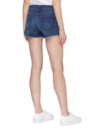 Back View - Click To Enlarge - FRAME DENIM - 'Le Cut Off Williams' raw edge cuff denim shorts