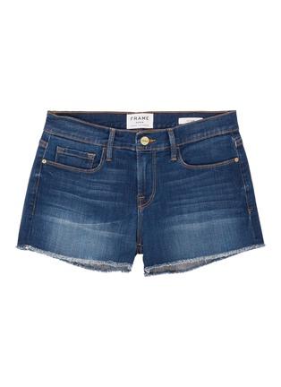 Main View - Click To Enlarge - FRAME DENIM - 'Le Cut Off Williams' raw edge cuff denim shorts