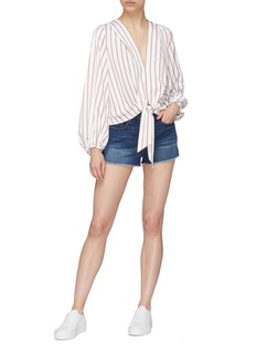 Frame Denim 'Le Cut Off Williams' raw edge cuff denim shorts