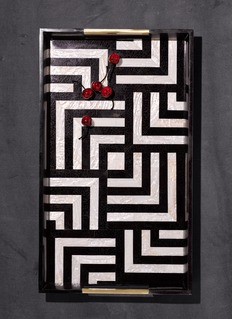L'Objet Dedale large rectangle tray