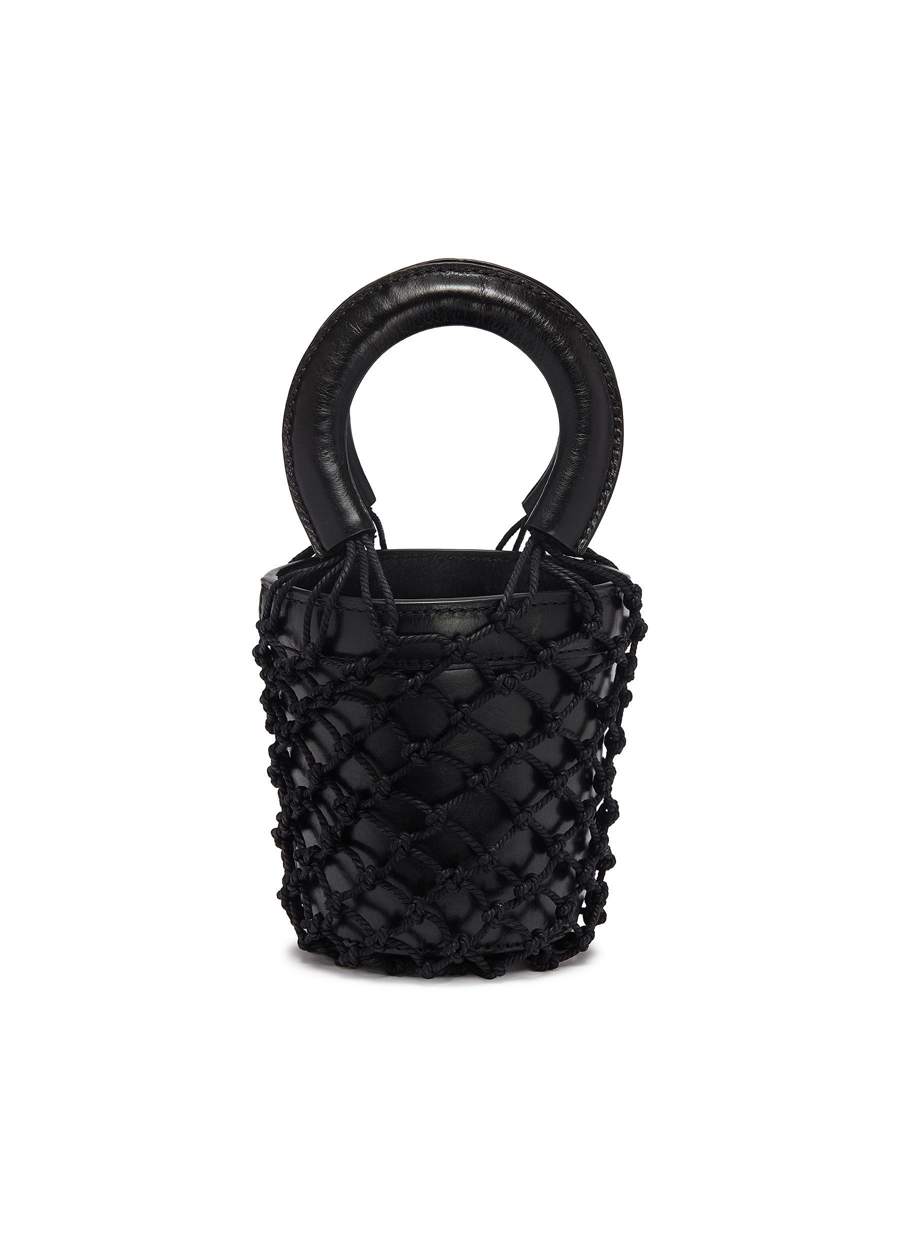 f09131ccc STAUD | 'Moreau' mini macramé net leather bucket bag | Women | Lane ...