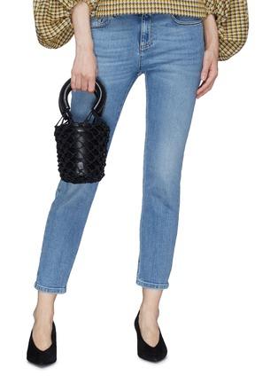 2c539617d Figure View - Click To Enlarge - STAUD - 'Moreau' mini macramé net leather