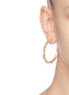 Kenneth Jay Lane Bamboo stem hoop earrings