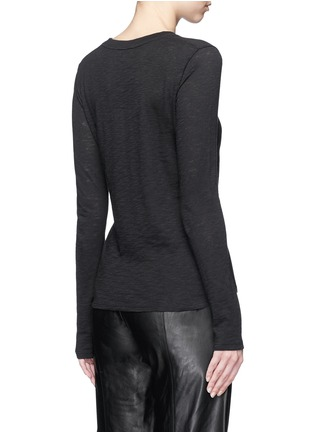 Back View - Click To Enlarge - VINCE - Heathered slub jersey T-shirt