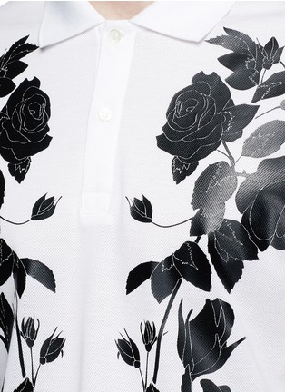 Detail View - Click To Enlarge - ALEXANDER MCQUEEN - Floral print polo shirt