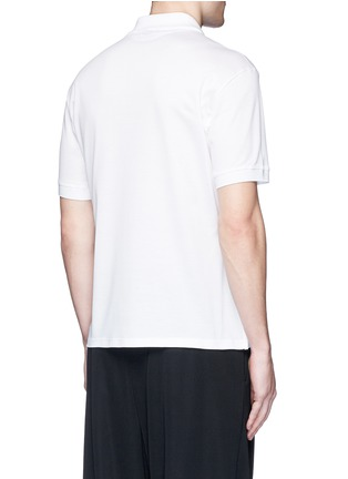 Back View - Click To Enlarge - ALEXANDER MCQUEEN - Floral print polo shirt