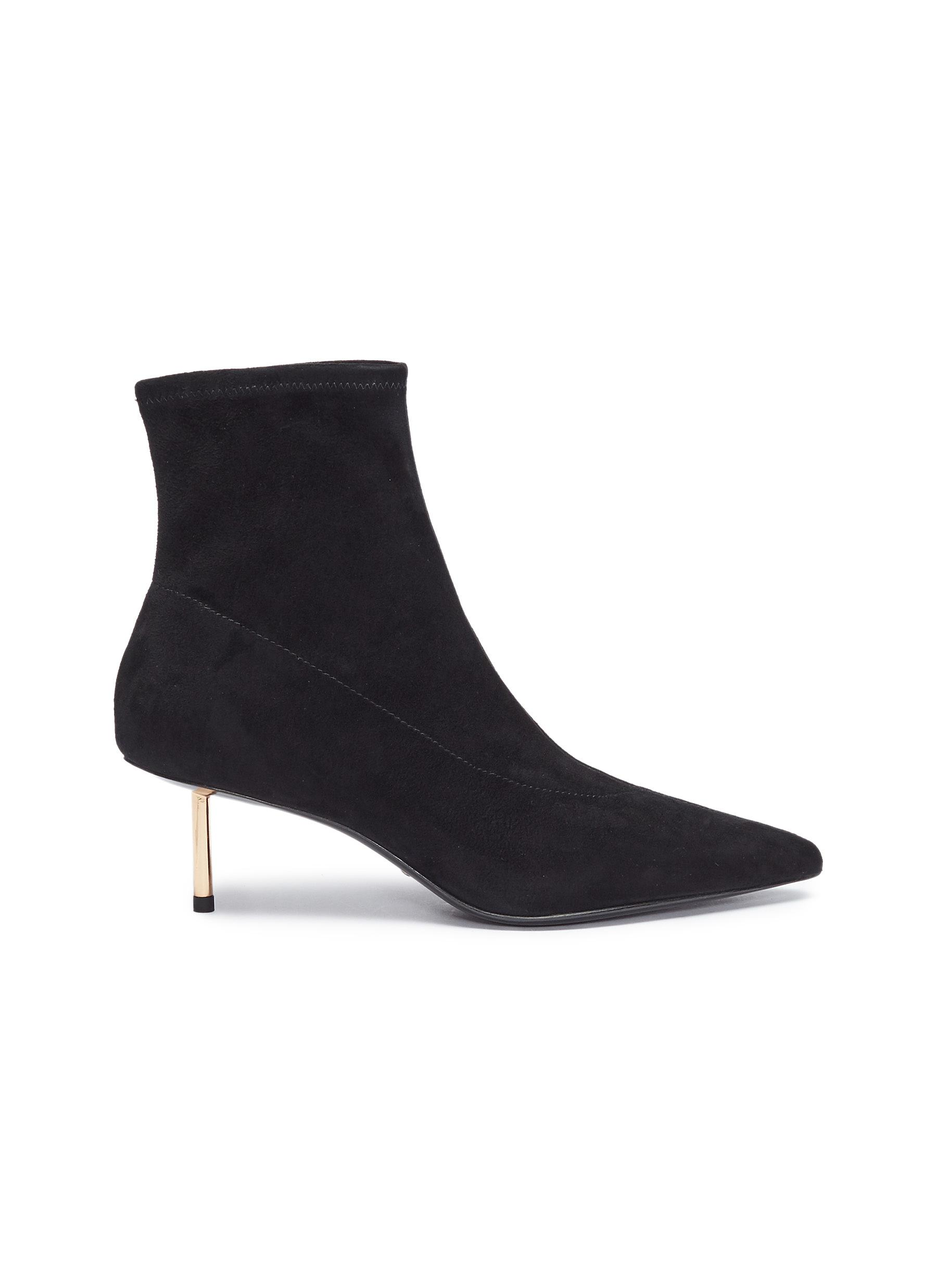 Pin heel suede ankle boots by Stella Luna