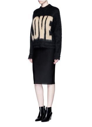 Figure View - Click To Enlarge - GIVENCHY - 'LOVE' Mohair-wool sweater
