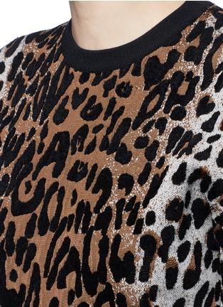 Detail View - Click To Enlarge - Stella McCartney - Cheetah jacquard wool blend sweater