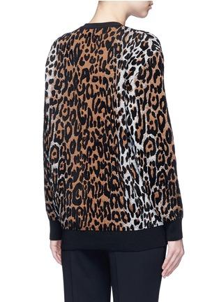 Back View - Click To Enlarge - Stella McCartney - Cheetah jacquard wool blend sweater