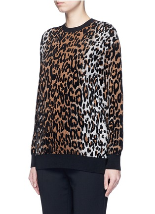 Front View - Click To Enlarge - Stella McCartney - Cheetah jacquard wool blend sweater